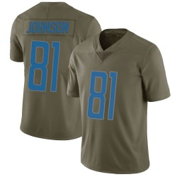 Calvin Johnson Detroit Lions Youth Limited Salute to Service Nike Jersey - Green