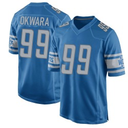 Julian Okwara Detroit Lions Youth Game Team Color Nike Jersey - Blue